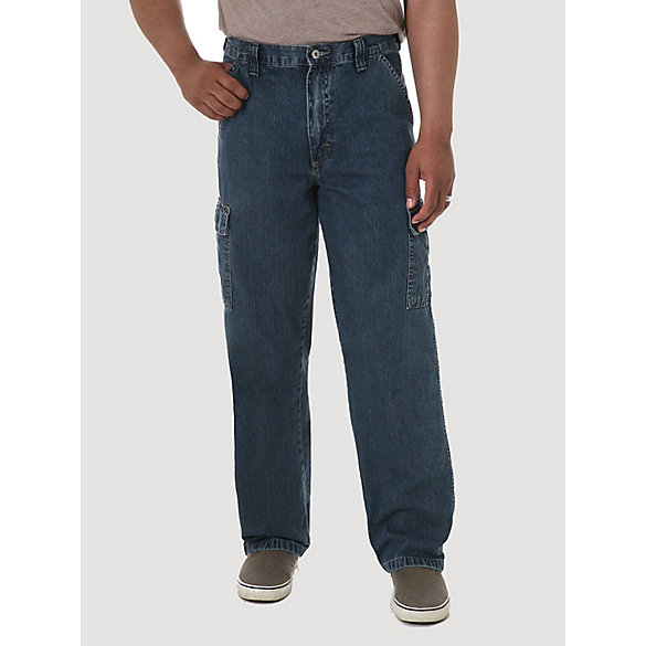 Wrangler® Denim Loose Fit Cargo Jean (Big Sizes)