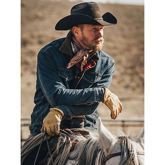 Wrangler® Blanket Lined Denim Jacket Rustic
