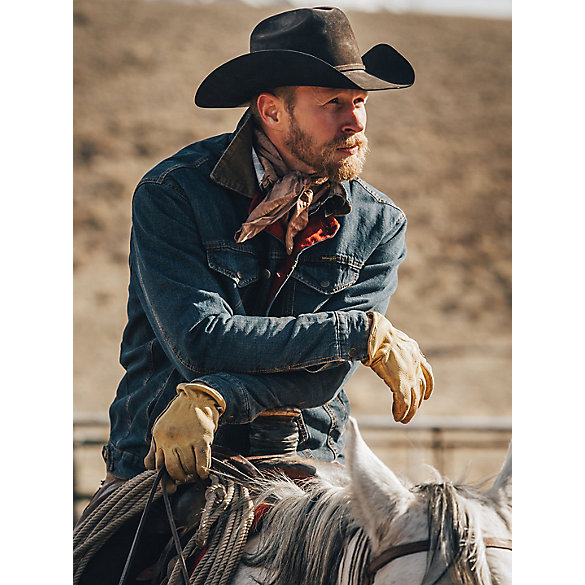 Wrangler® Blanket Lined Denim Jacket Rustic  (Big & Tall)