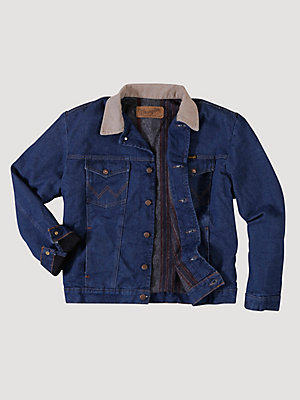 Men's Wrangler® Blanket Lined Corduroy Collar Denim Jacket (Big & Tall)