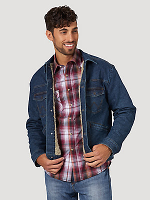 Men's Wrangler Retro® Sherpa Lined Western Denim Jacket