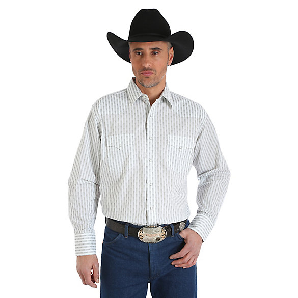 Men's Silver Edition® Long Sleeve Western Snap Print Shirt