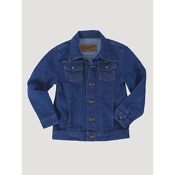 Boy's Wrangler® Cowboy Cut® Unlined Denim Jacket