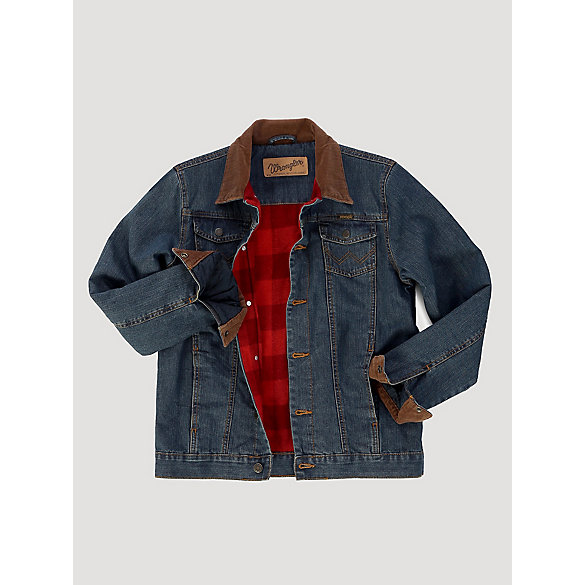 Boy's Wrangler® Blanket Lined Denim Jacket