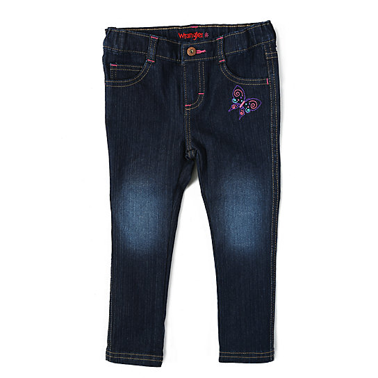 Wrangler® Skinny Jean with embroidery - Toddler