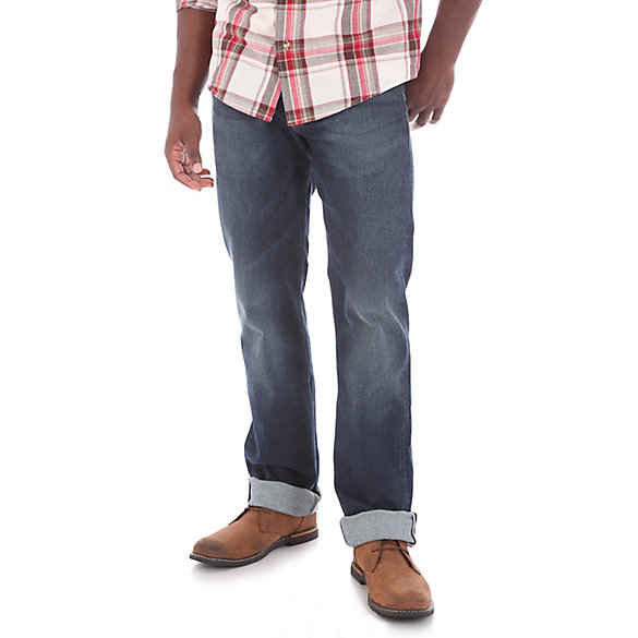 Men's Wrangler® RED Straight Fit Flex Selvedge Jean