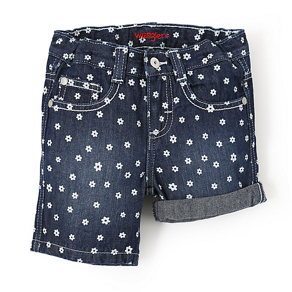 Wrangler® Midi Short with Flower Print - Toddler