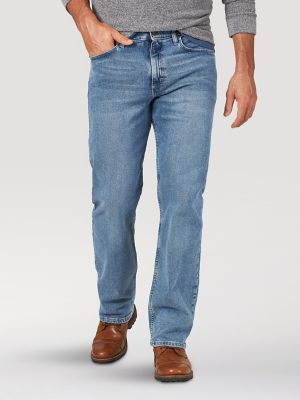 Wrangler NEW Carbon Men/'s Performance Series Relaxed Fit Comfort Straight Jeans