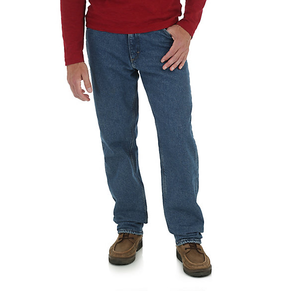 Men's Fleece Lined Five Pocket Relaxed Fit Jeans