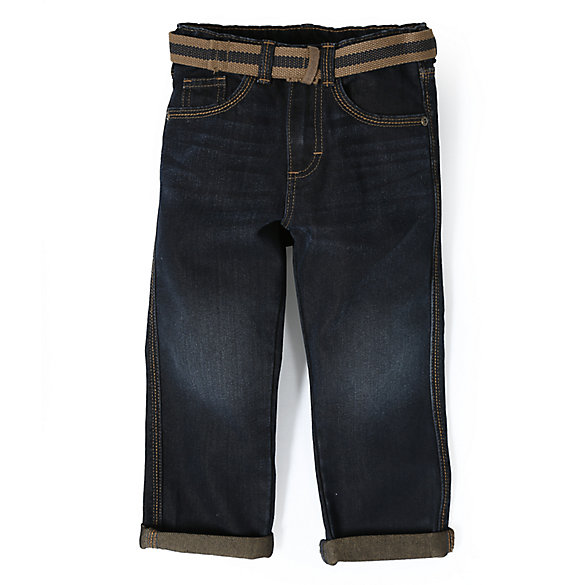 Boy's Premium Belted Relaxed Fit Jean (2T-5T)