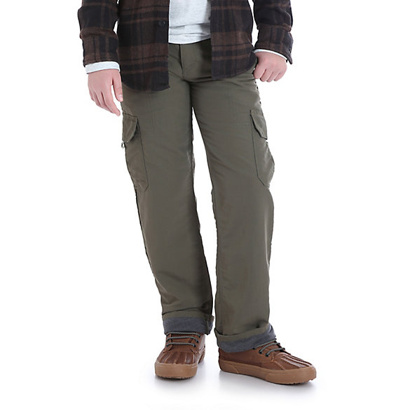 Boy's Relaxed Fit Straight Leg Lined Outdoor Cargo Pant (8-16)