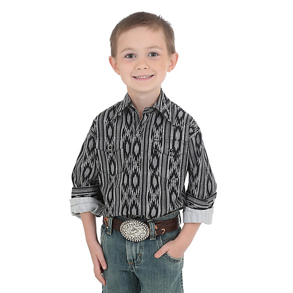 Boy's Checotah Long Sleeve Western Snap Desert Print Shirt