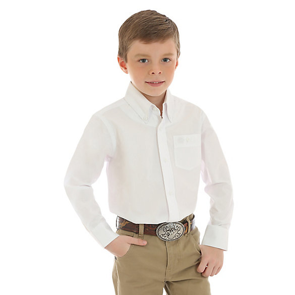 Boy's Classic Button Down Solid Shirt