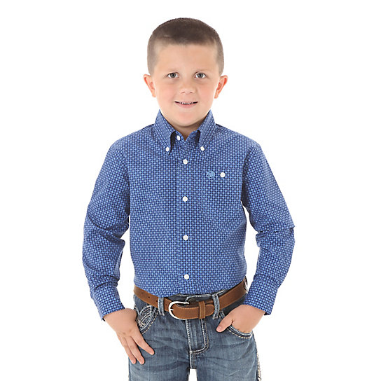 Boy's Classic Long Sleeve Button-Up