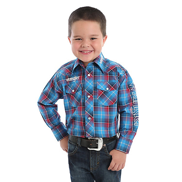 Boy's Logo Long Sleeve Western Snap Shirt