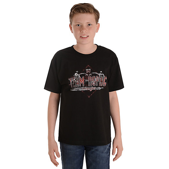 Boy's Wrangler® Short Sleeve Team Roping Graphic T-Shirt