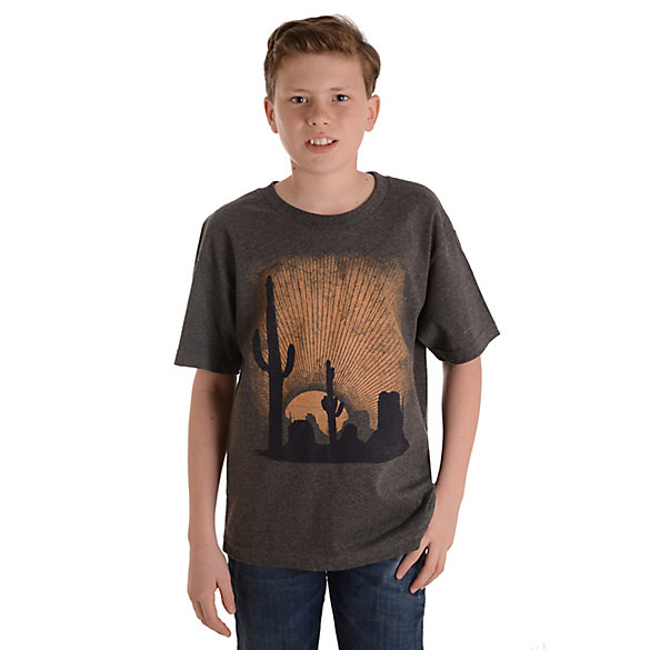 Boy's Wrangler® Short Sleeve Cactus Graphic T-Shirt