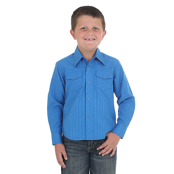Boy's Long Sleeve Sport Western Snap Shirt