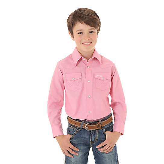 Boy's Tough Enough to Wear Pink Western Shirt