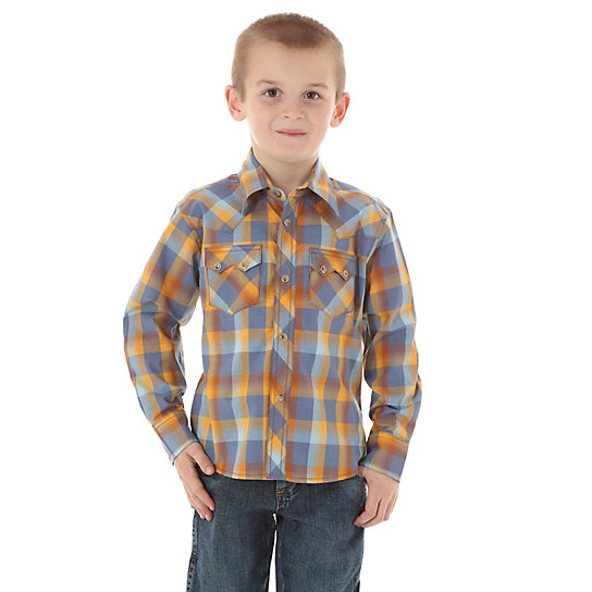 Boy's Western Plaid Shirt
