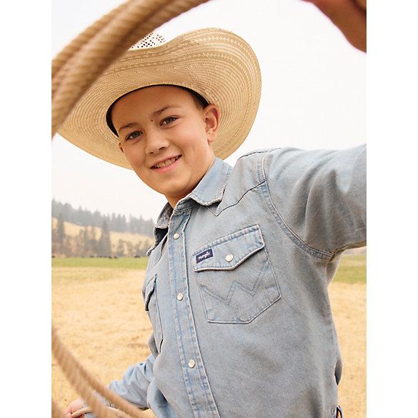 e10b0ebb92 Boy s Cowboy Cut® Western Snap Shirt