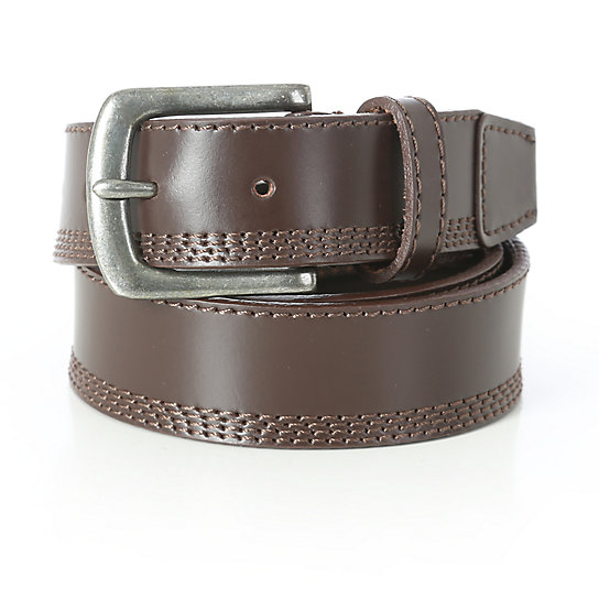 Wrangler® Quad Stitch Belt - Brown