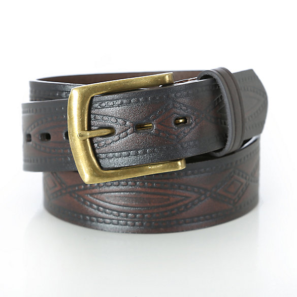 Wrangler® Mens Belt Diamond Rope Embossed - Brown