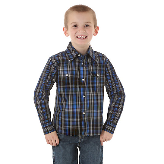 Boy's Wrinkle Resist Button-Up Shirt