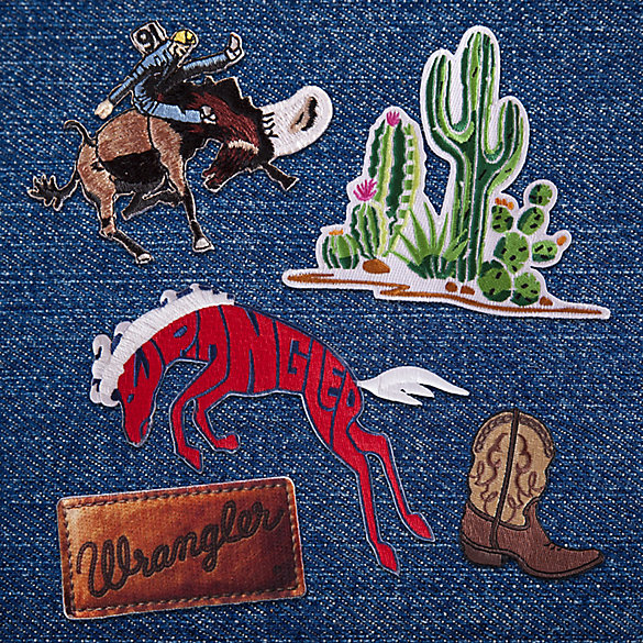Western Patches Set - 5 Patches