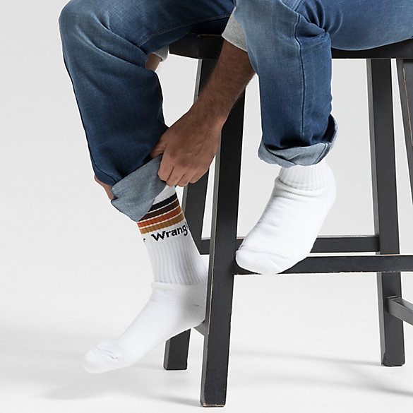 Men's Four Stripe Crew Sock