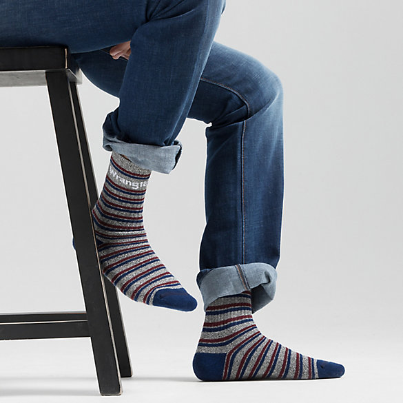 Men's Allover Stripe Crew Sock