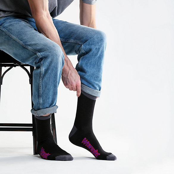 Men's Neon Logo Ankle Crew Sock