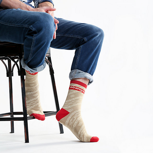 Men's Aztec Print Crew Sock