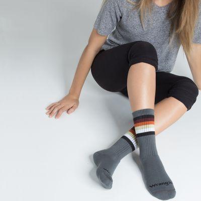 Women S Rainbow Stripe Crew Sock Womens Accessories By