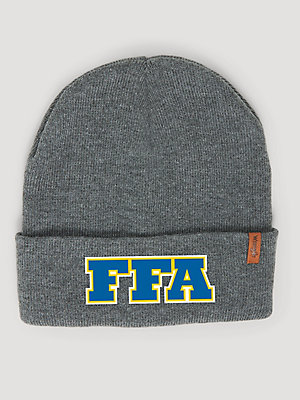 Wrangler® x FFA® Collection: Men's Cuffed Patch Beanie