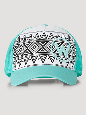 Wrangler® x FFA® Collection: Women's Aztec Print Trucker Hat
