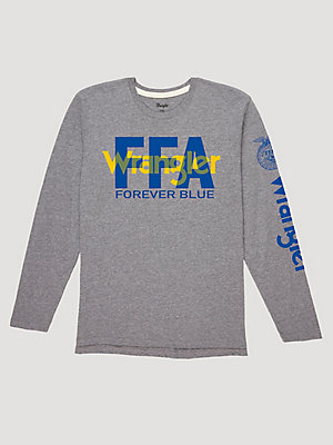 Wrangler® x FFA® Collection: Men's Long Sleeve Forever Blue Graphic T-Shirt