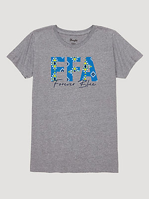 Wrangler® x FFA® Collection: Women's Forever Blue Logo Graphic T-Shirt
