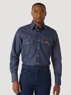 44599e388f6f Wrangler® FR Flame Resistant Long Sleeve Denim Work Shirt