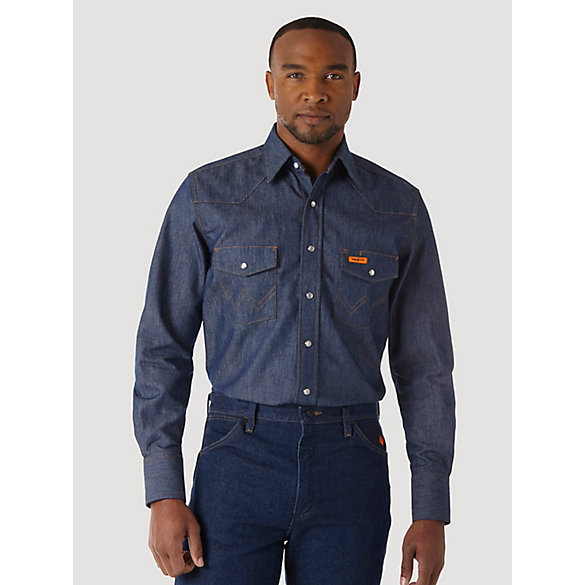 799c6f3ab0c9 Wrangler® FR Flame Resistant Long Sleeve Denim Work Shirt