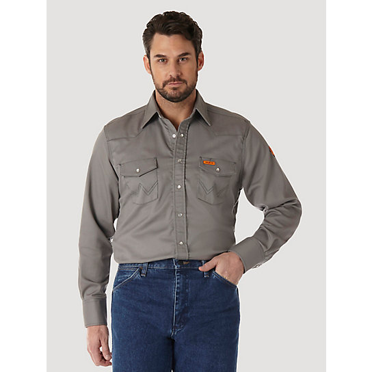 Wrangler® FR Flame Resistant Long Sleeve Solid - Charcoal