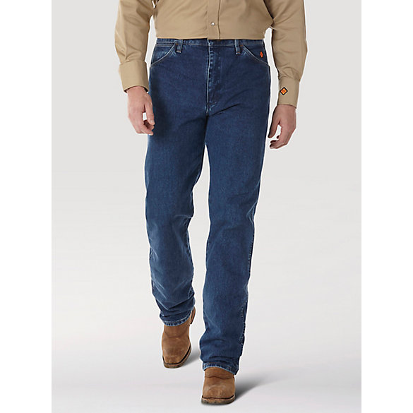 Wrangler® FR Flame Resistant Original Fit Jean - Stonewash (Big & Tall)