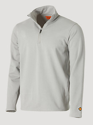 Wrangler® FR Flame Resistant Long Sleeve Quarter-Zip Fleece Pullover