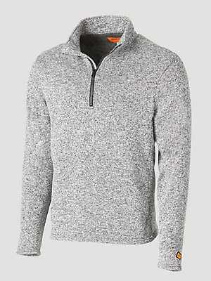 Wrangler® FR Flame Resistant Long Sleeve Quarter-Zip Sweater Knit Pullover