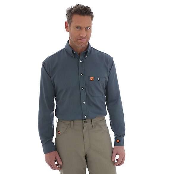 Wrangler® RIGGS Workwear® FR Flame Resistant Solid Shirt (Big & Tall Sizes)