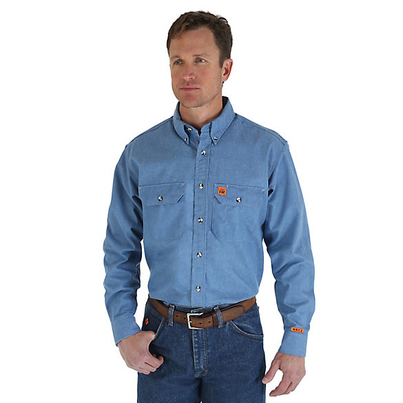 Wrangler® RIGGS Workwear® FR Flame Resistant Work Shirt (Big & Tall Sizes)