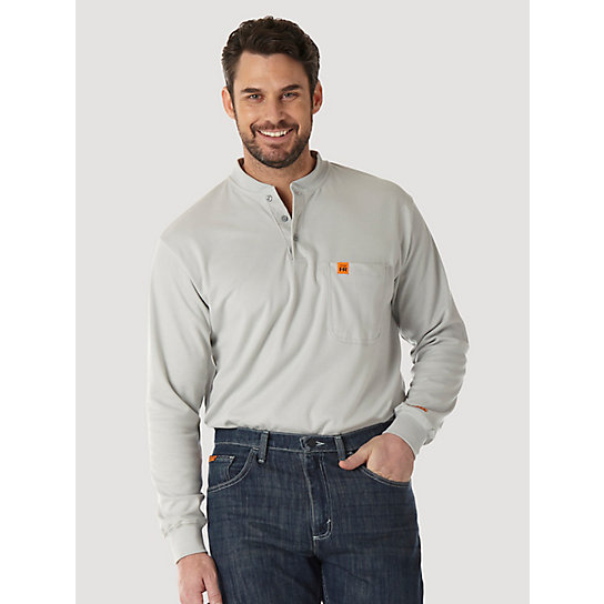 Wrangler® RIGGS Workwear® FR Flame Resistant L/S Henley (Big & Tall Sizes)