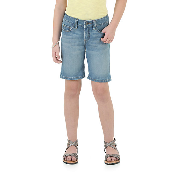 Wrangler Girls' Bermuda Short - Light Blue (7-14)