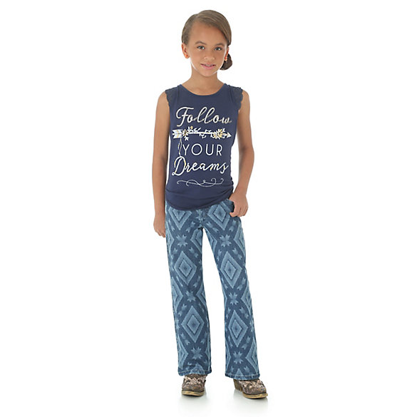 Girl's Rock 47® by Wrangler® Printed Tank Top