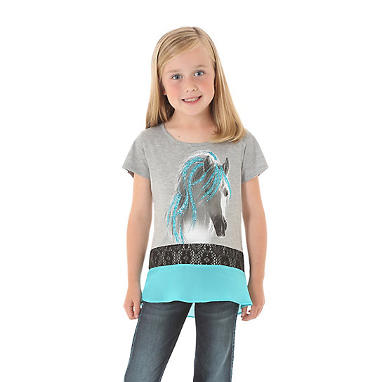 Girl's Rock 47 by Wrangler Horse T-Shirt